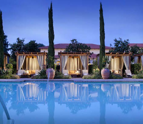 Rancho Bernardo Spa Pool Cabanas Night